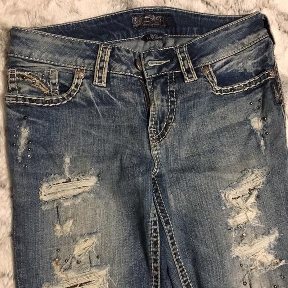 Silver Jeans Denim - Silver 28X31 Suki flap slim jean